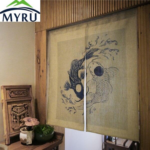 MYRU японский стиль занавеска для двери Ресторан ванная комната фэн шуй занавеска на дверь в спальню taijitu занавес для рыбы
