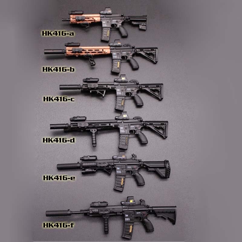 """Mini juguetes de escala 1/6 1/6 HK416 series M4 Rifle arma modelo juguetes F 12 """"colección de accesorios de figuras"""