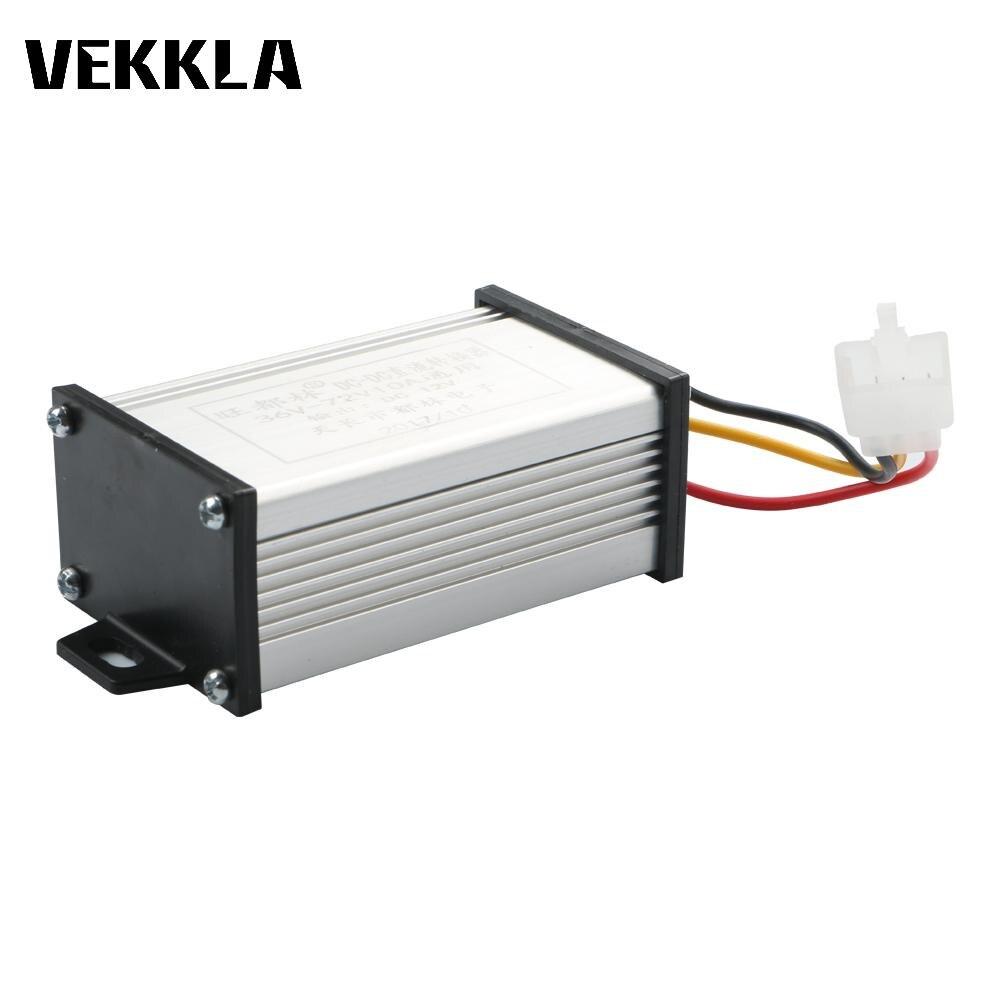 Anschlüsse Konverter Elektrische Buck Converter 36V/48V/60V/72V Zu 12V DC modul Car Power Supply Voltage Für Elektrische Fahrzeug