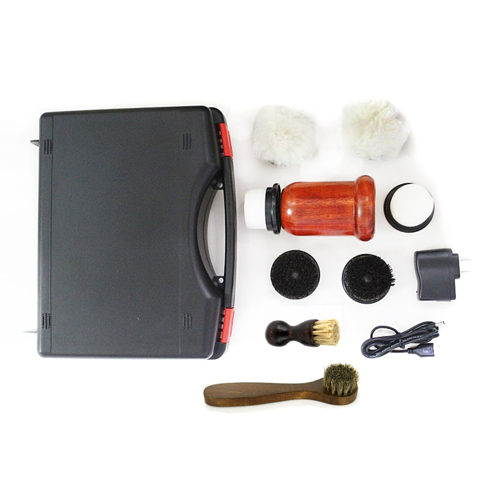 1Set Electric Shoe Polishers Machine 75W High Power Redwood Portable Brush Leather Shoes  Kit Brush Cleaning Tools Leather Care enlarge