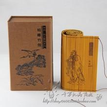 Rouleau de bambou classique glisse célèbre livre des analectes de Confucius bilingue chinois et anglais aprro taille 51x16 cm