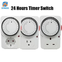 euusuk plug electronic mechanical timer socket energy saving 24 hours intelligent home protector certification by ce rohs gs