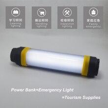 Portable IP68 4400 mAh 7 Modes Dimmable batterie externe Rechargeable durgence SOS clignotant magnétique multifonction LED Camping lumière
