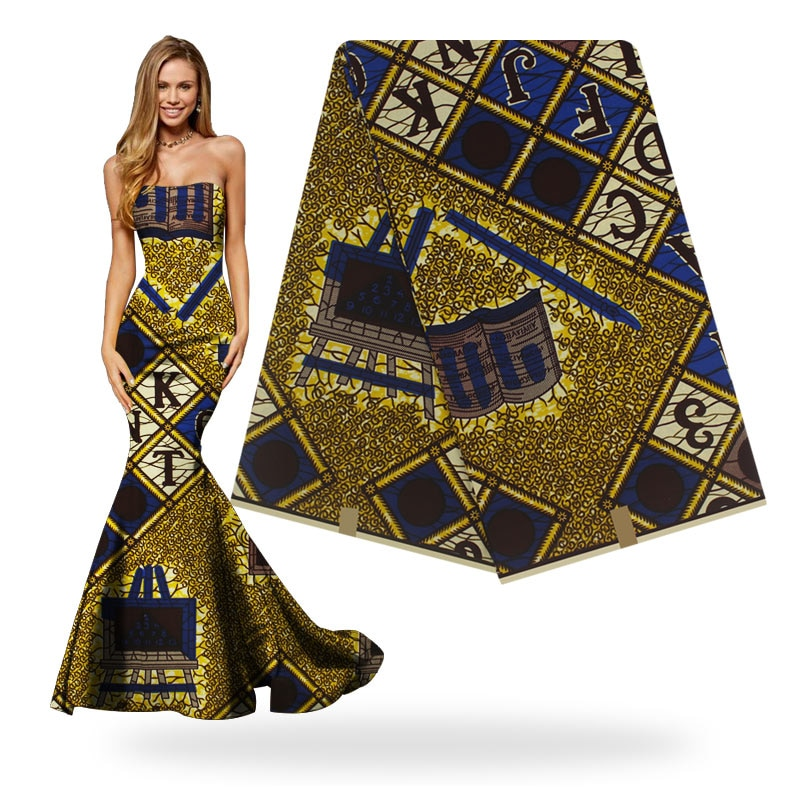 Verdadera cera Batik garantizada cera Real 6 yardas/lote 2019 carta cera de patrón alta calidad tela africana H8