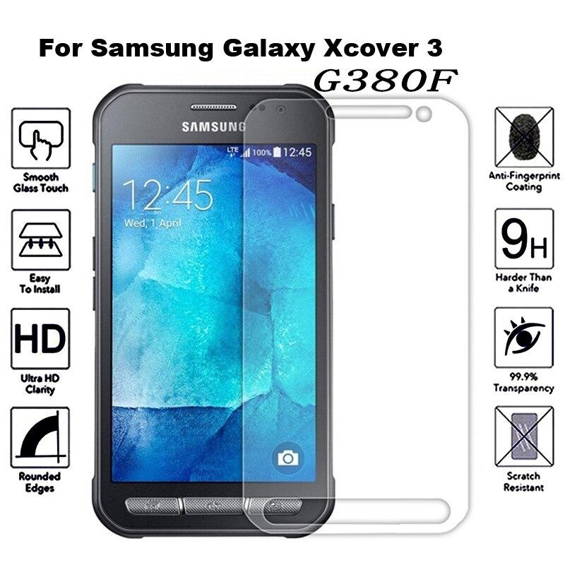 2 uds vidrio templado para Samsung Galaxy Xcover 4 3 S8 Active G380F G390F película protectora a prueba de explosiones Protector de pantalla