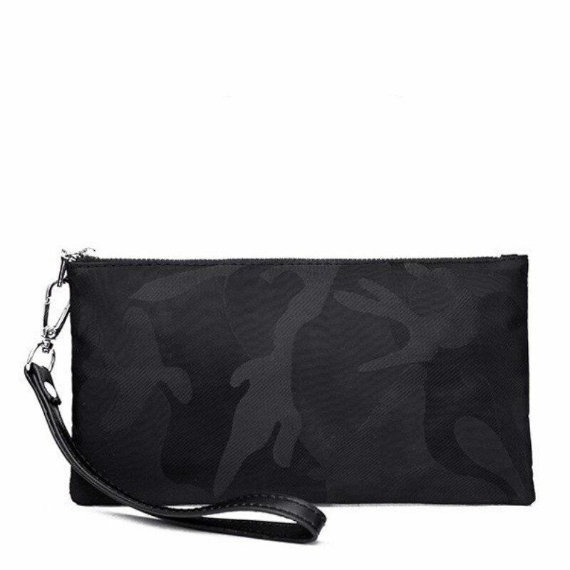 2019 Brand Men Wallets Long  Purse  Male Clutch Leather Zipper   Business  Wristlet Coin Handbag for Gift