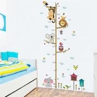 Tableau de croissance des branches dun arbre  autocollants muraux  jolis animaux  pour la decoration de la chambre dun enfant  mesure de la taille  Art Mural  Diy bricolage