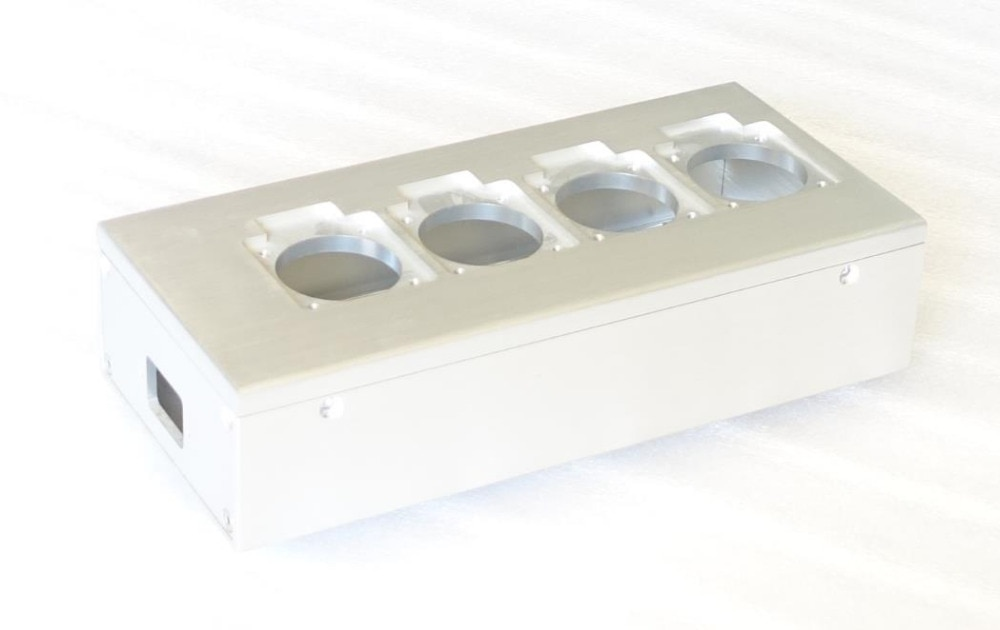 1PCS All aluminum European standard power socket chassis HiFi EU power box DIY Case