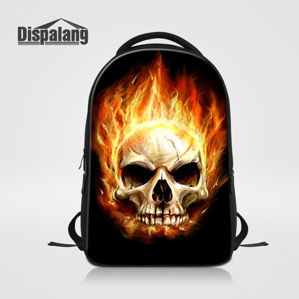 Dispalang Top Quality Women Men Backpack Cool Skull Printing Casual College School Bags Kids Daily Travel Laptop Backpacks Bag