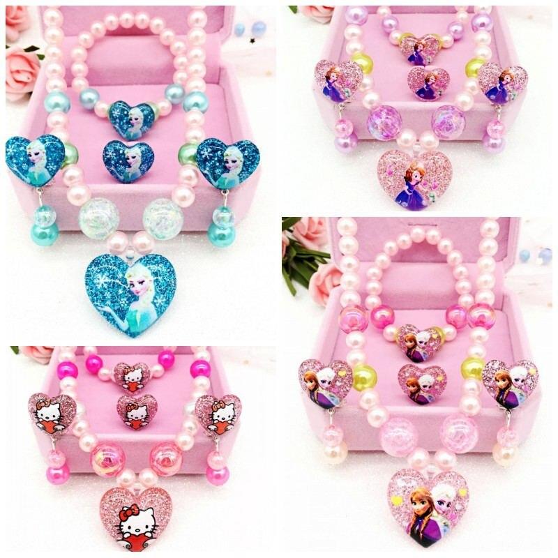 """Ожерелье для девочек """"Холодное сердце"""", 4 шт./лот, подарок на день рождения"""