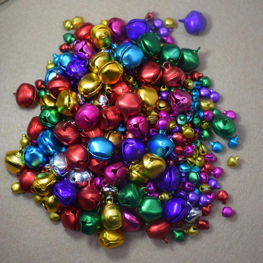100 Pcs/Lot Neue Weihnachten Glocken Lose Perlen Kleine Jingle Bells Weihnachten Dekoration Geschenk 6mm 8mm 10mm 12mm 14mm Jingle Bells
