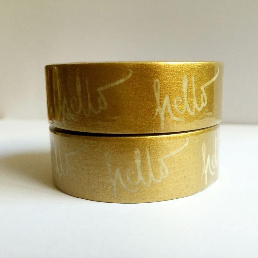 Cinta de Papel washi dorada de 15mm * 10 m/fondo dorado cinta de washi de Japón