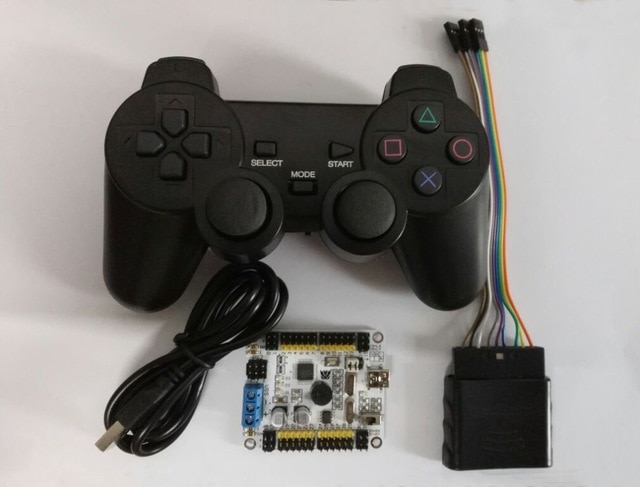 Placa de Control Servo ismaring oficial de 32 canales y controlador PS2 + receptor para Robot Hexapod/Spider/17DOF/19DOF Robtics