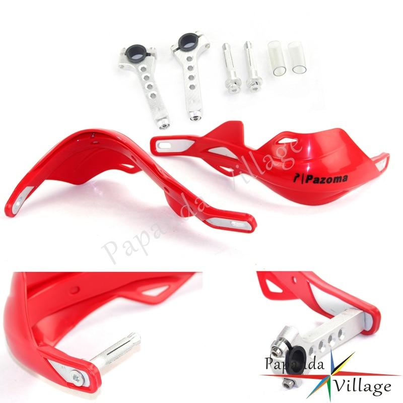 Papanda Motocross Brush Bar 7/8 1 1/8 manillar rojo guardamanos para Honda CR250 CRF250 CRF450 CR500 XR250 CBR 600RR
