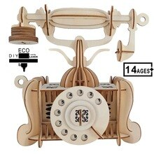 Ancien modèle de téléphone 3D en bois Puzzle jouets éducatifs jouets Montessori éducatifs en bois Puzzles jouets pour enfants adultes
