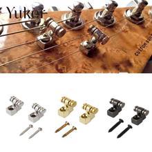 Yuker 2 pièces guitares électriques rouleau chaîne arbres retenue support arbre Guide guitare électrique pièces accessoires de remplacement