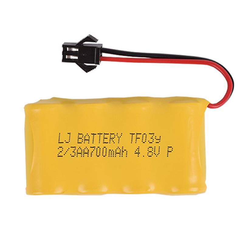 4.8v 700mah 2/3aa NI-CD m bateria deformação robô controle remoto veículo bateria recarregável frete grátis