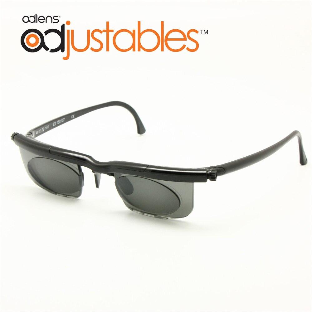Adlentilles lunettes optiques teintées à monture   Loupes solaires, monture de lunettes à force Variable-6D à +, loupe de myopie 3D, Anti-UVA/UVB ajustable