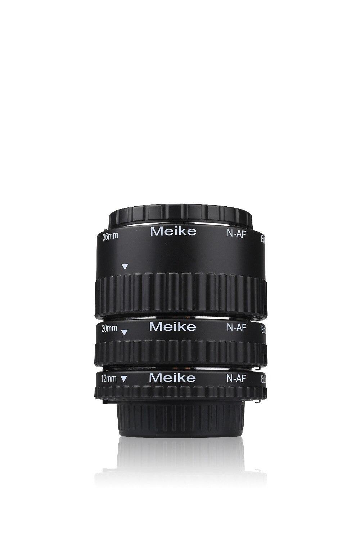 MEKE Meike N-AF-B anillo de Tubo de extensión Macro de enfoque automático de plástico para cámara Nikon D800 D90 D3200 D5100 D5200 D7000 D7100 DSLR