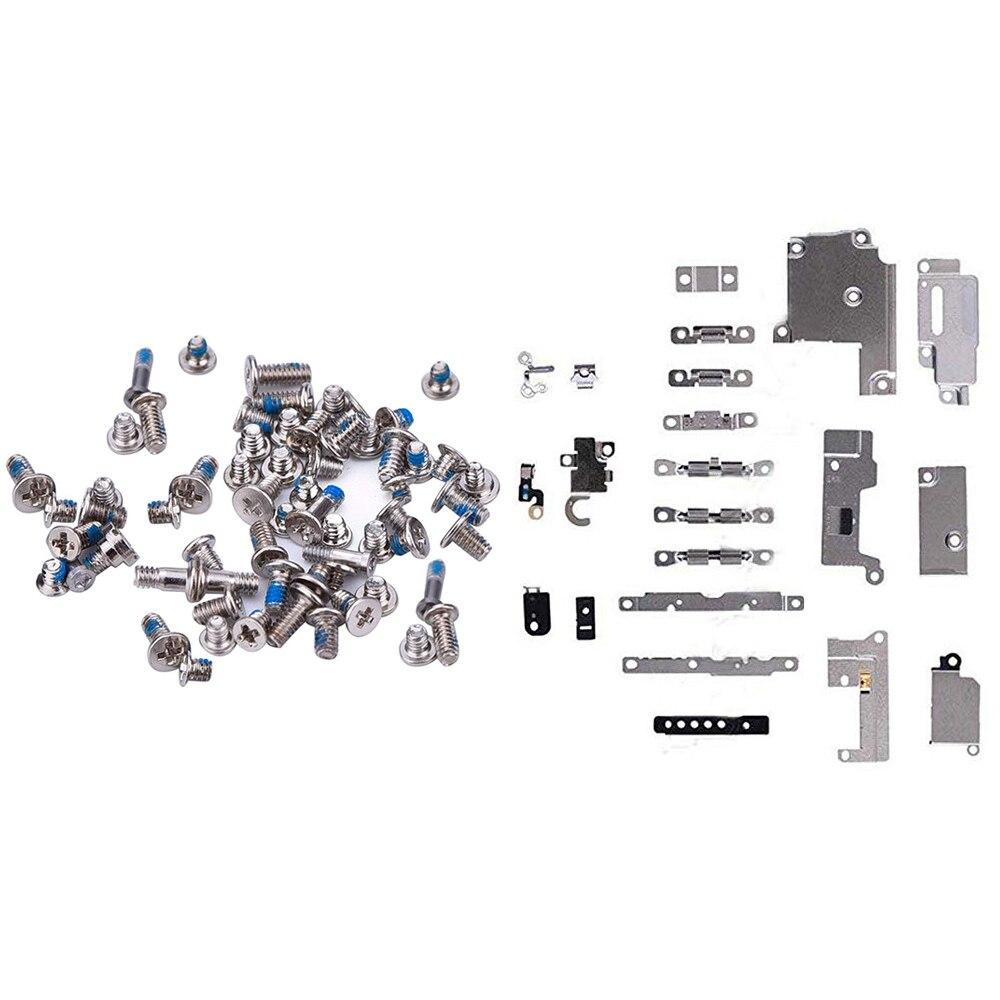 Piezas de Repuesto de reparación para iPhone 6 6p 6s 7 8 8 Plus soporte de sujeción almohadilla espaciadora + tornillos completos