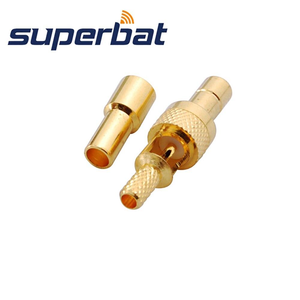 Superbat 10pcs SMB Crimp Jack RF Coaxial Connector for RG174 RG178 1.13mm 1.37mm Cable