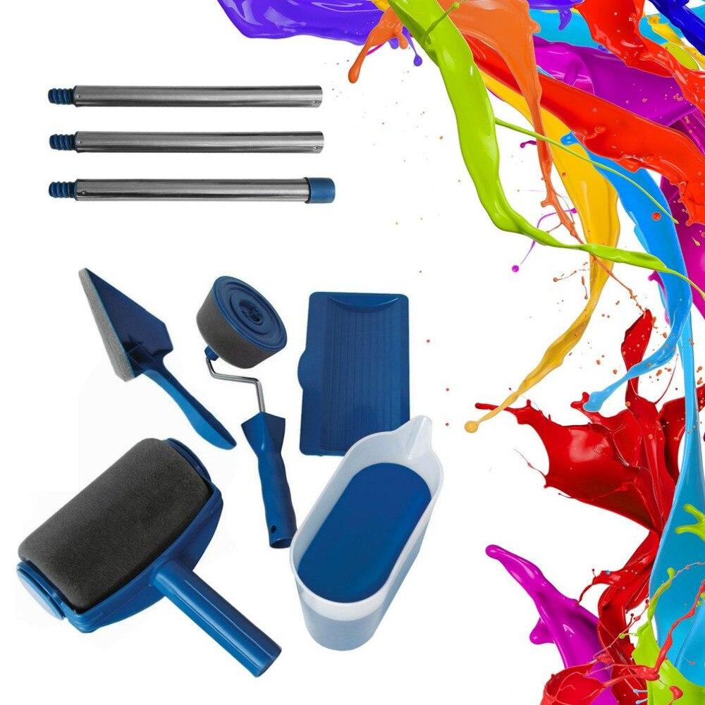 Cuadro de pared de rodillo de pintura Kit lineales Para Pintar Paredes pintura del hogar corredor herramientas cepillo de rodillo