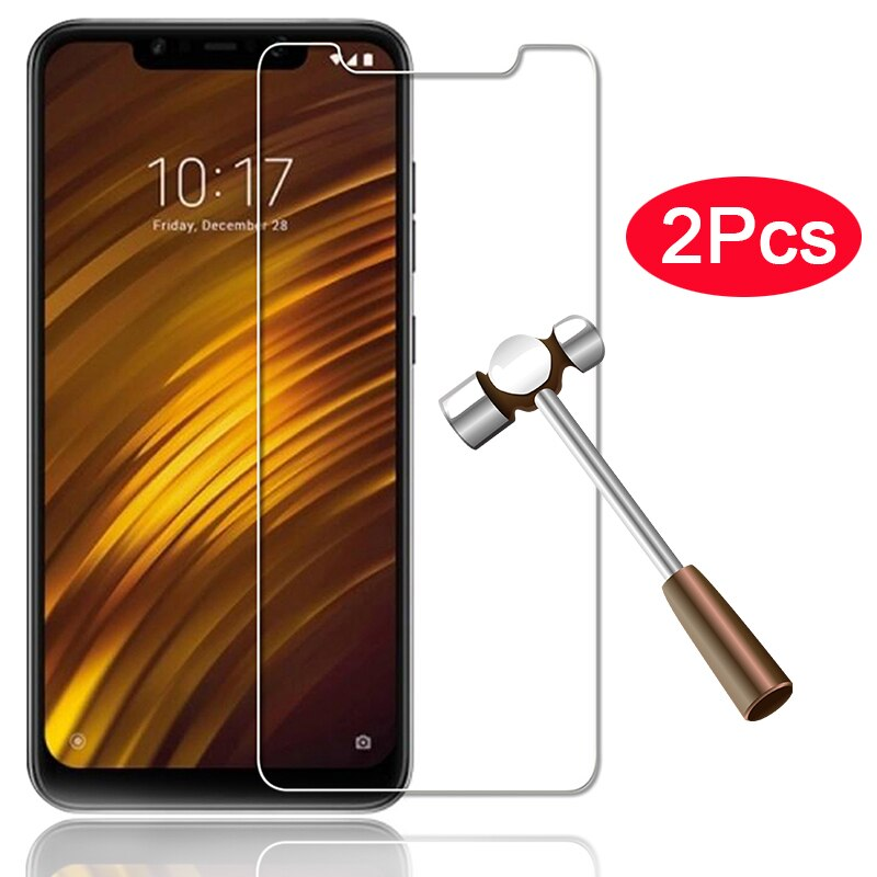 2pcs Tempered Glass for Xiaomi Pocophone F1 protective glass for Xiaomi Pocophone F1 Screen Protector Little F1 Poco F 1 glas 9h