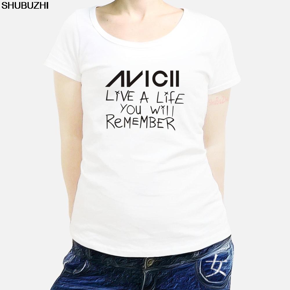 Avicii Viver UMA Vida Que Você Vai Se Lembrar do T-Shirt T unisex avicii EDM Dança Lenda marca womens teeshirt cotton tops sbz1148