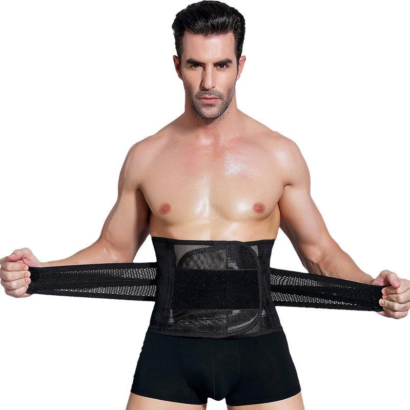 Cinturón adelgazante moldeador de cuerpo para hombre cinturón de vientre para hombre entrenador de cintura vientre Control de estómago Shapewear para hombres Chaleco de adelgazamiento