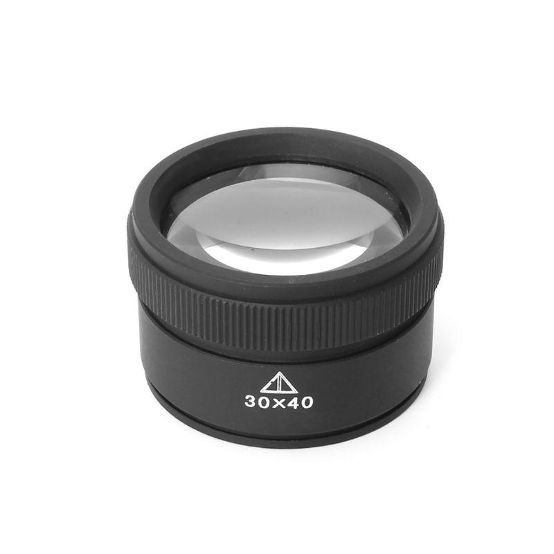 Lupa de Metal 30x40 opticas lupa joyero monedas sellos lupa lente