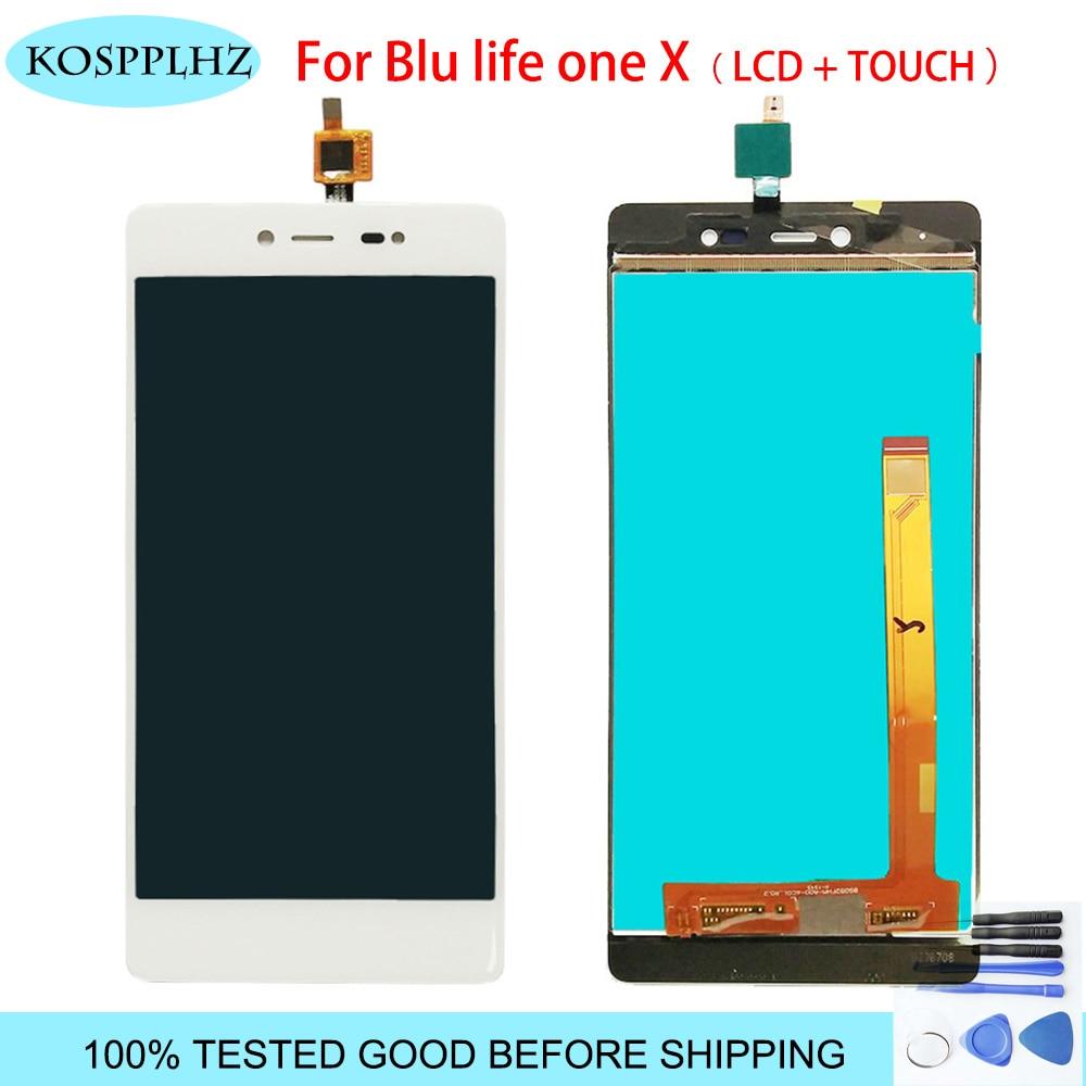 "Alta calidad para Blu life one X pantalla LCD + pantalla táctil LCD Montaje del digitalizador 5,2 ""color negro + herramientas"