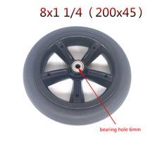 Scooter électrique solide roue solide 8x1   1/4 200 1/4x45 8*1 pneu solide 200*45 20x45