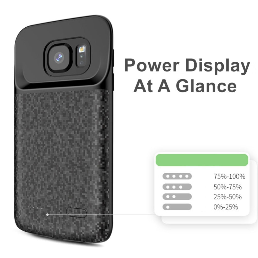 5000mah Batterie Fall Für Samsung Galaxy S7 Rand Smart Schlank Ladegerät Power Bank Für Samsung Galaxy S7 Batterie fall