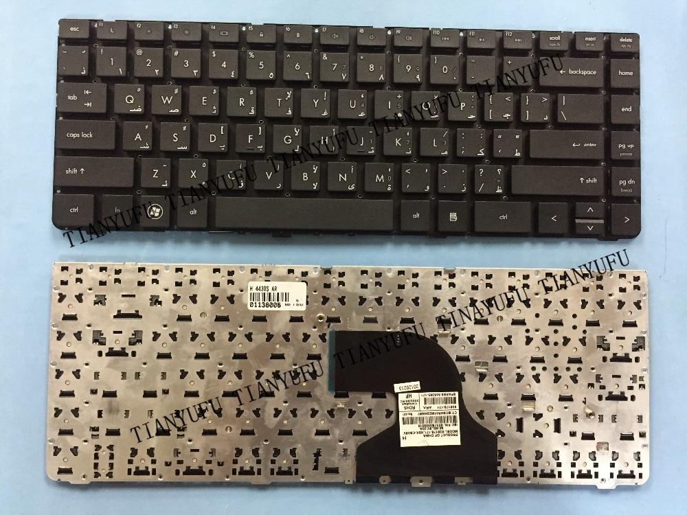 NOVA ÁRABE TECLADO Para HP Probook 4430 S 4330 s 4430 s 4431 S 4435 S 4436 S AR preto Teclado do laptop testado 100% de trabalho