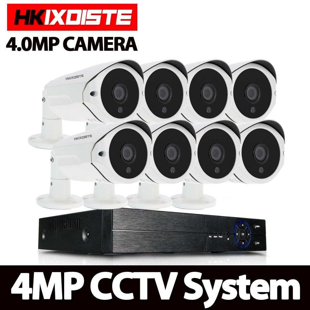 8CH 4MP AHD cámaras de seguridad HD 4.0MP 36 Uds IR lente CCTV sistema visión nocturna cámara de seguridad exterior Vedio vigilancia DVR Kit