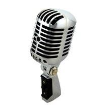 Chats professionnel filaire Vintage classique Microphone bonne qualité dynamique mobile bobine Mike de luxe en métal Vocal vieux Style Ktv micro