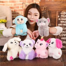 Unicorn Arm Huggers Stuffed Animal Kids Toy Slap Bracelet Kitty Puppy Dog Monkey Plush Toys soft gifts for kids baby wrist band
