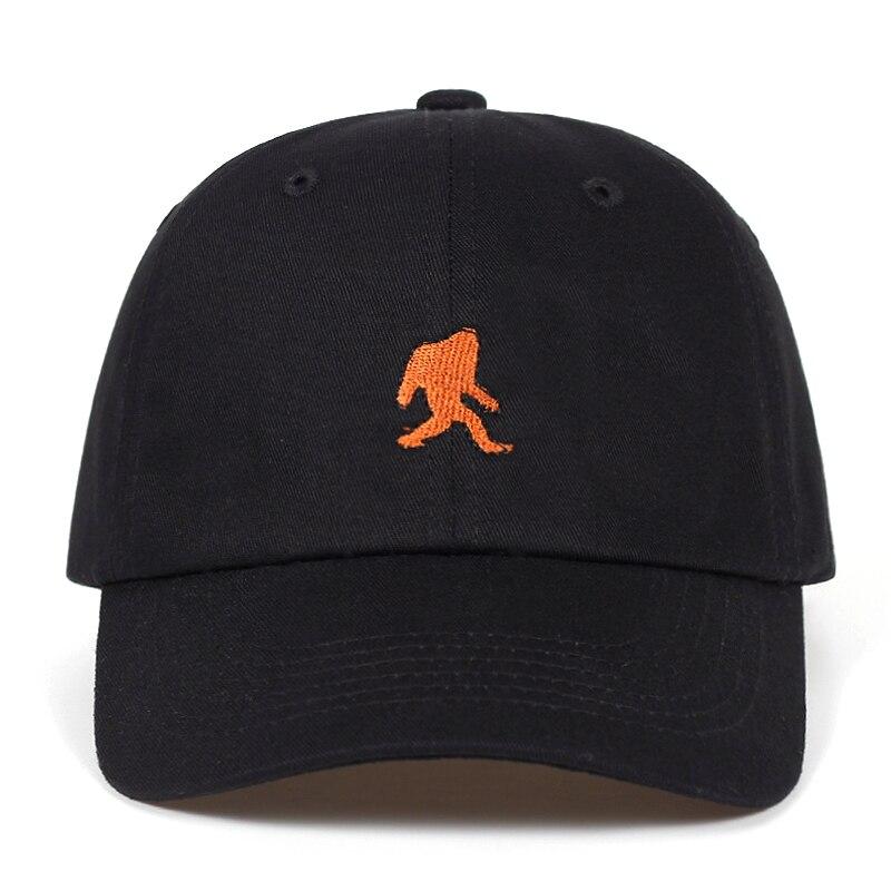 Gorra de béisbol bordada de algodón orangután de dibujos animados para hombre y mujer, gorra ajustable de verano para papá, gorras de Hip-hop con garras de hueso