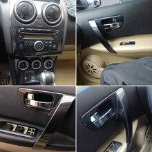 Autocollants de moulage changement de couleur pour Nissan Qashqai   Style de voiture en Fiber de carbone 3D/5D, Console centrale intérieure de voiture, 2006-2015 J10