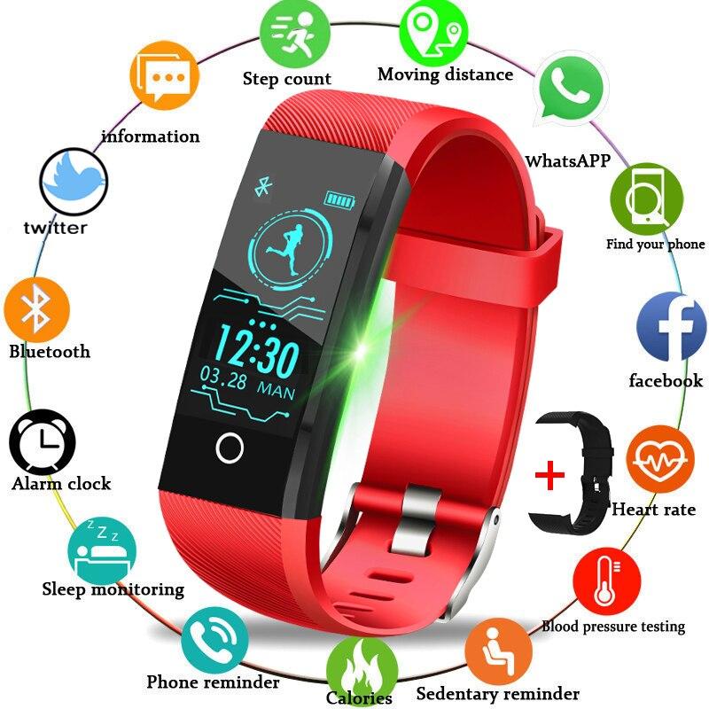 Lige 2020 novo esporte inteligente relógio ip67 à prova dip67 água relógio de fitness pressão arterial monitor freqüência cardíaca pedômetro relógio feminino + banda