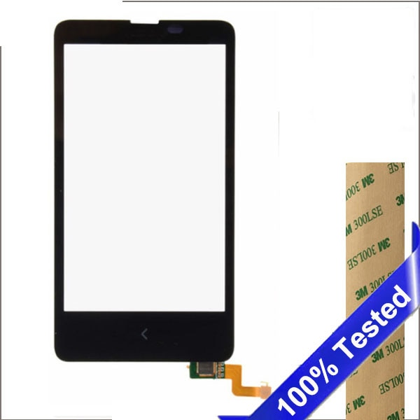 10 unids/lote para Nokia X RM-980 pantalla táctil Dual SIM 4 lente de vidrio con digitalizador de reemplazo de teléfono móvil
