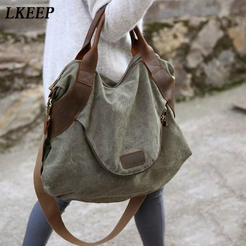 2019 Brand Large Pocket Casual Tote Women's Handbags Shoulder Handbags Canvas Capacity Bags For Wome