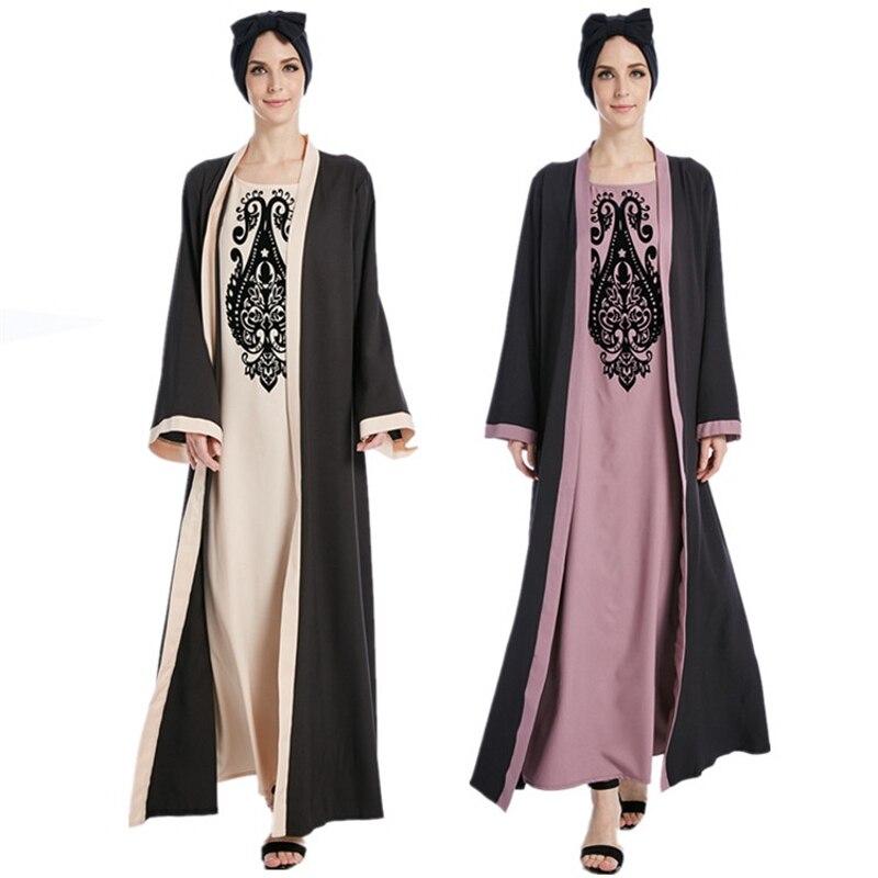 فستان إسلامي من Focking للنساء المسلمات ، تونك إسلامي مزيف ، ناعم ، عباية دبي ، بنجلاديش ، للنساء