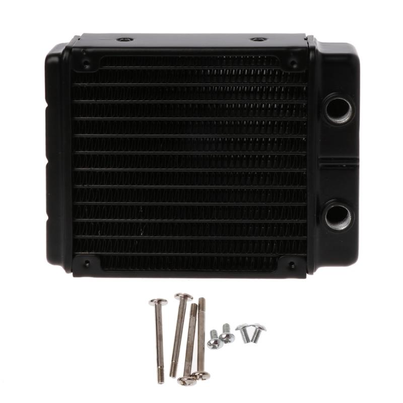 Radiador de aluminio de doble capa de 120mm, enfriador de agua, 24 tubos, CPU, disipador de calor