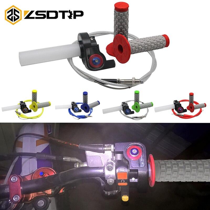 ZSDTRP 7/8 22mm מהיר פעולה מצערת אחיזת טוויסט & מצערת כבל & ידית כידון עבור 50-250cc אופנוע Dit בור אופני Quad