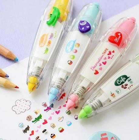 4 pcs/lot Korea Stationery Cute Novelty Decorative Correction Tape Correction Fluid School & Office Supply