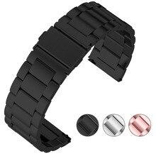 3 cores samsung gear s3 classic/frontier/galaxy 46mm pulseiras de relógio, fullmosa 22mm sólido aço inoxidável pulseira de relógio