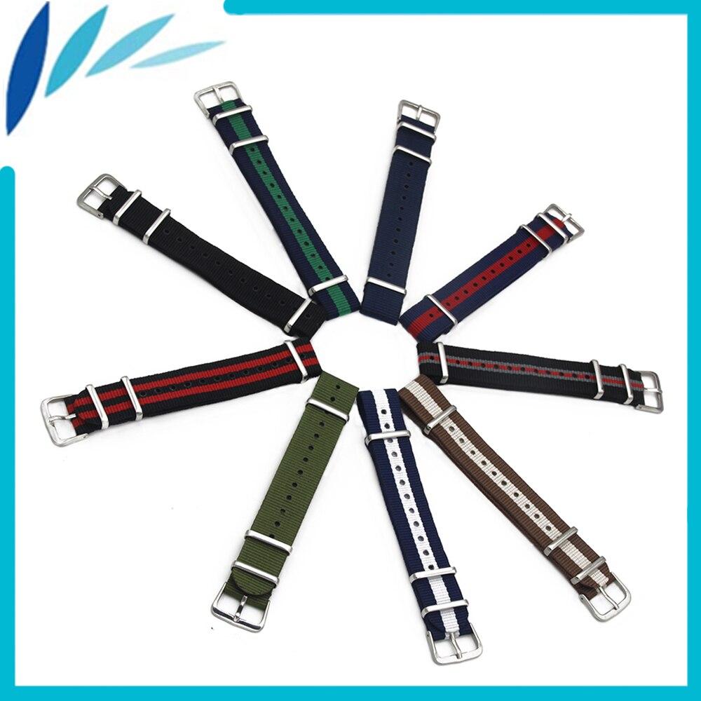 Correa de reloj de nailon 18mm 20mm para Timex Weekender Expedition, hebilla de acero inoxidable, correa de muñeca, pulsera de correa, negro y rojo