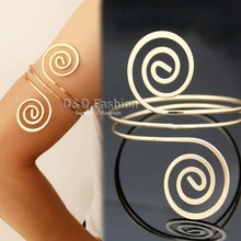 Viktorianischen Filigrane Swirl Zigeuner Boho Armband Oberarmmanschette Armbinde Bauchtanz Schmuck Armreif Armbänder Für Frauen Pulseras Viking