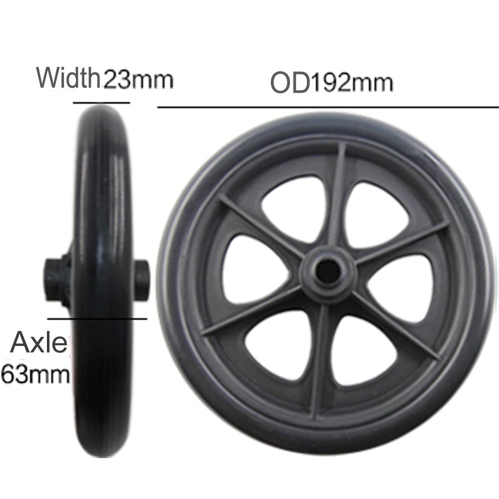 2 uds. Ruedas delanteras para silla de ruedas de 8 pulgadas rueda de ruedas de 8
